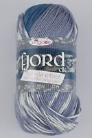 400 Grams (4 Balls)KING COLE DK FJORD NON PILLING  variegated YARN.  SHADE Molde
