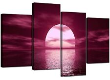 Extra Large Plum Canvas Wall Art Pictures 130cm Wide Prints XL 4004