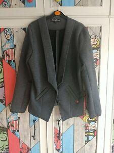 Rant And Rave Grey Smart Office Jacket Size 12 Irish Design Grey Blazer Jacket