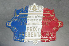 Vintage French Butchery Agriculture Plaque Trophy Award Animals Arras
