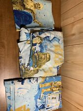 Vintage 70s Star Wars Twin Flat & Fitted Sheet Set With 1 Pillow Case