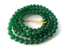 Tibetan Jade 108 Beads Full Mala Necklace for Meditation and Yoga