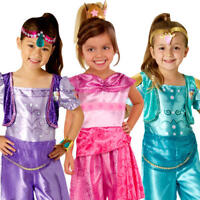 Shimmer & Shine Girls Fancy Dress Cartoon Genie Characters Childrens Kid Costume