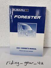 2001 Subaru Forester Owners Manual Guide Book