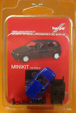 Herpa 012140 005 MiniKit: Volkswagen VW Polo 2türig ultramarinblau Scale 1 87