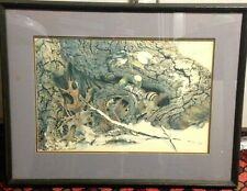 Sallie Ellington Middleton Original The Chipmunk Rare Signed Naturalist Series