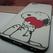 Snoopy Charlie Brown #FE Rubber+Leather Cover Case for Apple iPhone 6S (4.7'')
