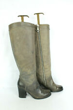 Bottes PAUL SMITH Cuir Gris Taupe T 35 / UK 2.5 BON ETAT
