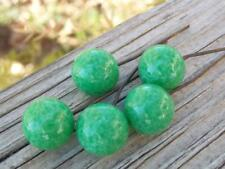 VTG Rare Old Peking Green Glass BEADS COPPER EMBEDDED WIRE for DROPS & DANGLES