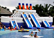 45x35x35 Commercial Inflatable Ship Water Slide Pool Boat Bounce House Castle