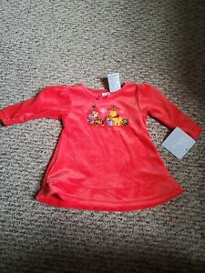 Disney Store Winnie The Pooh and Tigger Red  Polyester Dress Baby 3-6m New