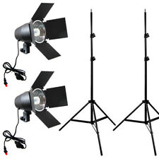 Lusana Studio Daylight Dimmable Barndoor Lighting Professional Studio Light Kit