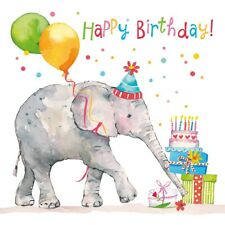 """20 Servietten """"Birthday Elephant"""" 33x33 Napkins Geburtstag Kinder Geschenke"""