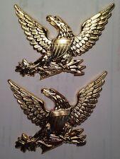 Civil War, Pair U.S.M.C. Eagle M-1830 Brass Hat Plates, Unused Repros, No Wires