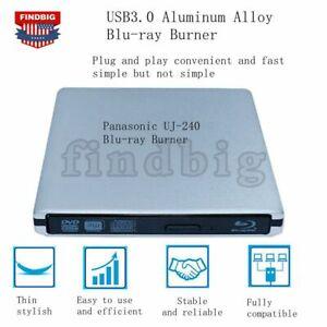 USB3.0 External Drive Panasonic UJ-240 6X Blu-Ray Burner BD-RE DVD RW