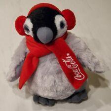 Coca-Cola Penguin Plush red scarf/earmuffs