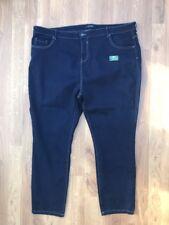 Ladies Evans straight leg indigo navy jeans denim plus size 30 BNWOT Stretch