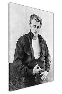 BLACK AND WHITE JAMES DEAN PHOTO SHOOT CANVAS ART PRINT WALL PICTURES HOLLYWOOD