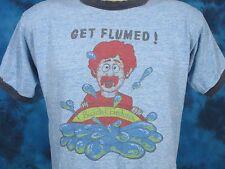vintage 80s RAYON TRI-BLEND BUSCH GARDENS PAPER THIN RINGER T-Shirt XS/S cartoon