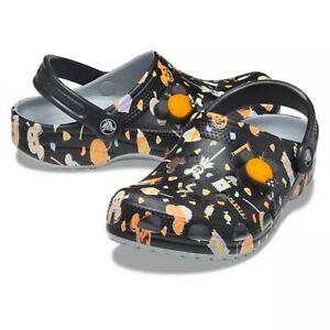 2020 Disney Store Crocs Halloween Clogs Shoe Mickey Mouse Jack-O-Lantern Lights