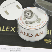 Authentic Alex and Ani NUMBER 2 Sterling silver .925 SPOON RING