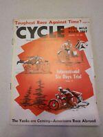 December 1952 Cycle Magazine Harley Davidson Triumph CZ BMW Royal Norton Mustang