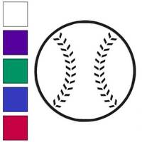 Baseball Sport Decal Sticker Choose Color + Size #3142