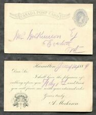 1618 - Canada HAMILTON 1884 Gillard Wholesale Grocers ADVERTISING Postcard