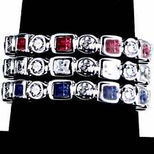 3-RING COMBO #3_GEOMETRIC CZ ETERNITY BAND RINGS_SIZE-10__925 STERLING SILVER