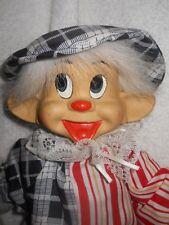 "Vintage 18"" Marionette Doll/Clown on a Wood Swing Porcelain Head"