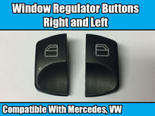 2x WINDOW REGULATOR BUTTONS FOR MERCEDES + VW RIGHT AND LEFT BRAND NEW