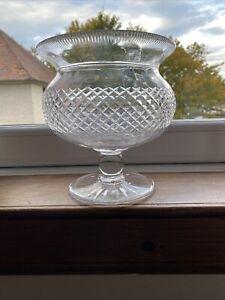 Large Crystal / Cut Glass Centrepiece Thistle Desighn