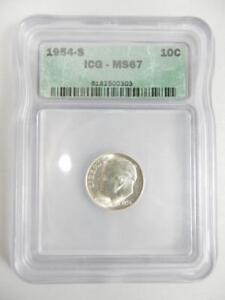 1954-S ROOSEVELT DIME, ICG MS67 90%       #L44