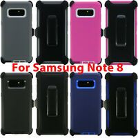For Samsung Galaxy Note 8 Heavy Duty Hard Case Cover Clip