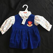 Vintage Corduroy Jumper Dress Fisher Price Shirt 12 Months Retro Kids 1st Class