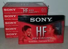 Lot of 6 Sony HF High Fidelity Blank Audio Cassette Tapes 90 Min Normal Bias NEW