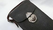Vintage Retro Brown leather camera binocular bag case Excellent Quality