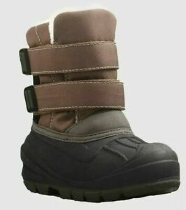 Toddler Boys Lev Brown Black Sherpa Lined Winter Boots Cat & Jack