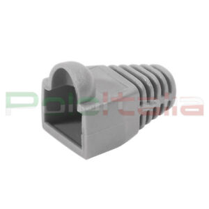 10x Copri connettore gommino per plug cavo di Rete cat6 ethernet RJ45 Lan Grigio