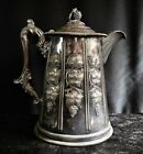 Antique MERIDEN Double Wall Pitcher   Silver Plate