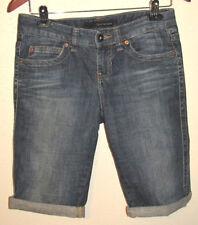 Calvin Klein Stretch Denim Cuffed Bermuda Shorts Size 2