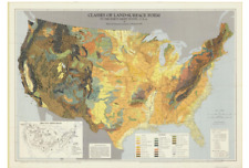 Classes of Land-Surface Form in the Forty-Eight States Map, AAG