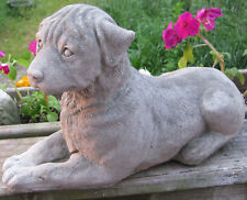 Large Concrete Laying Rottweiler Dog Statue