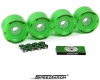 Longboard Rollen 83mm grün + ABEC 9 / Longboard wheels 83mm green + ABEC 9
