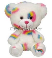 Build-a-Bear Buddies Smallfrys Mini Rainbow Summer Hugs Teddy Plush Animal NWT