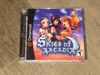 Skies of Arcadia Sega Dreamcast Complete CIB w/Registration Card Tested