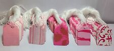 Lot 100 Pink Designer Print Gift Paper Merchandise Price Tags WhiteString Retail