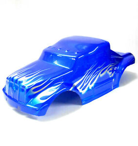 88036 RC 1/10 Scale Monster Truck Body Shell Cover Blue Narrow