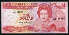 East Caribbean 1 Dollar 1985-88 P 17g Suffix letter G UNC Condition !!!