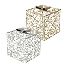 wedding reception guests card holder box anniversary choice of gold or silver
